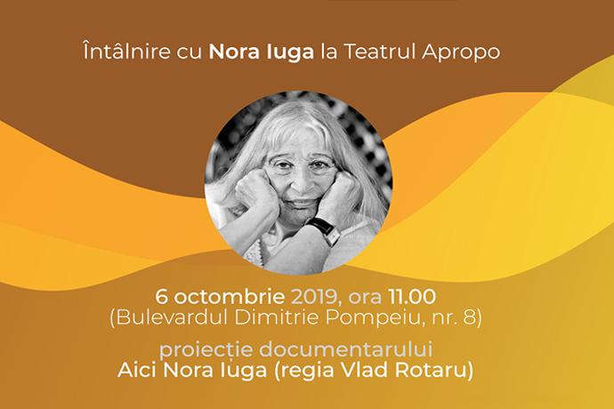 Proiecția documentaruluiAici Nora Iuga