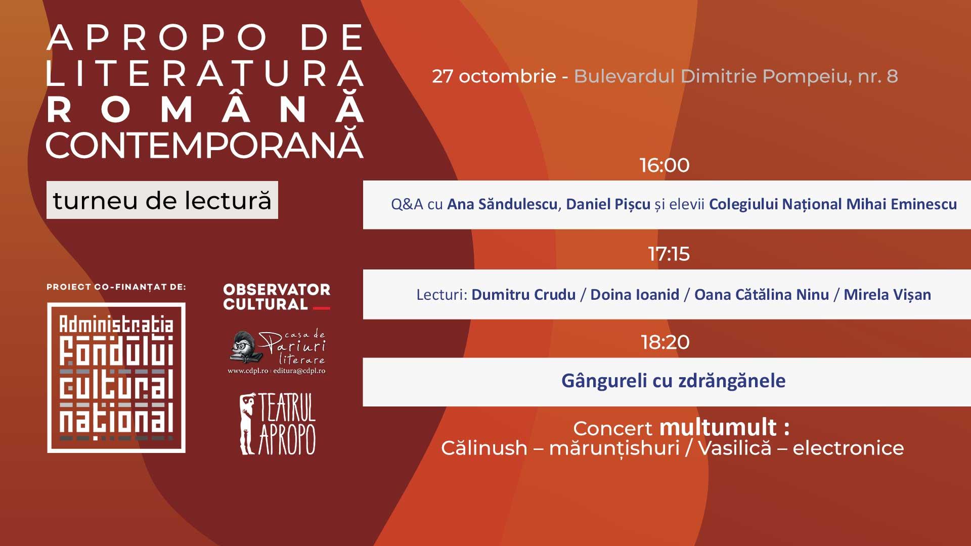 APROPO de Literatura română contemporană (27 octombrie)